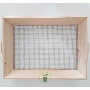 Tamis à terreau pour semis en bois 39x29x6.5 cm
