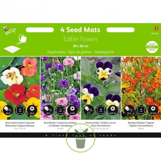 Fleurs comestibles - 4 tapis de graines présémés