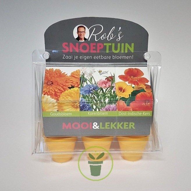 Mini serre 6 pots fleurs comestibles – Prêt à pousser