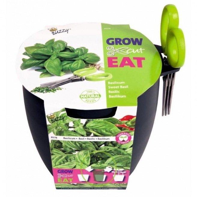 Kit Complet Plantes Aromatiques Pot Terreau Graines Et Ciseaux