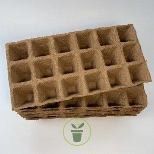 Pots biodégradables carré 5 cm/ 144 pièces (Jiffy pots)