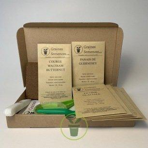 Graines de légumes anciens ou oubliés - Kit de 8 variétés prêt à semer