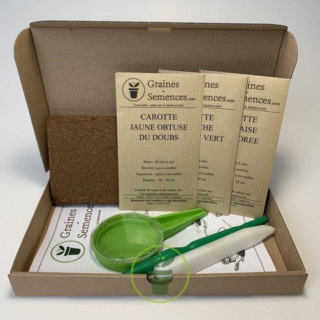 Carottes multicolores - kit de 3 variétés prêt à semer