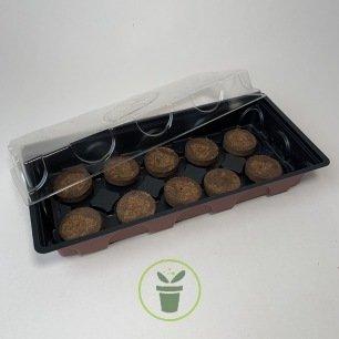 Mini serre + 10 pastilles coco