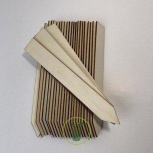 étiquettes à planter en bois 15 cm