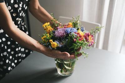 Bouquet crée avec les fleurs du jardin